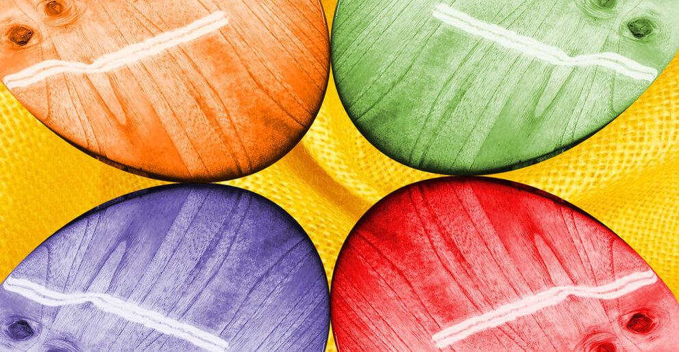Multi-coloured Kilaia Kiteboards