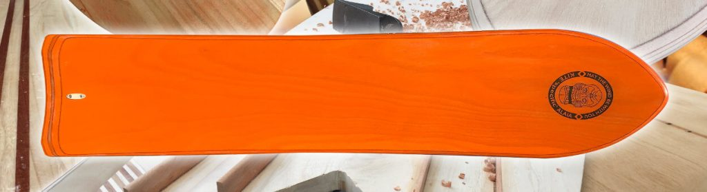 The Kai-Ply DIY Kite specific Alaia coloured in orange