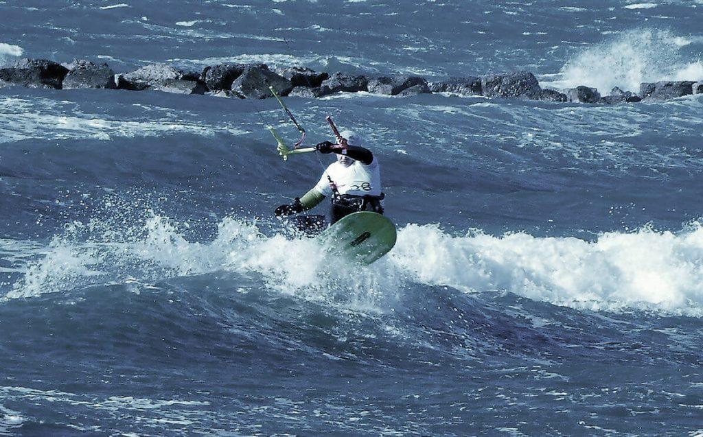 Greg Reemers riding a Kilaia220 Wave at Boucanet, France