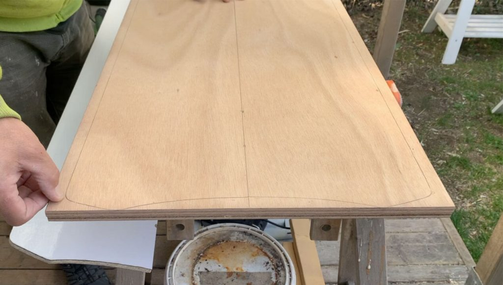 This is an image of your Kite Alaia marked onto the wooden blank